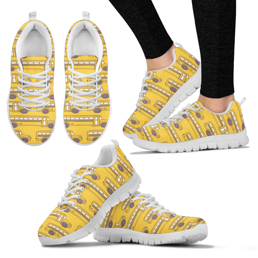 School Bus Women Sneakers