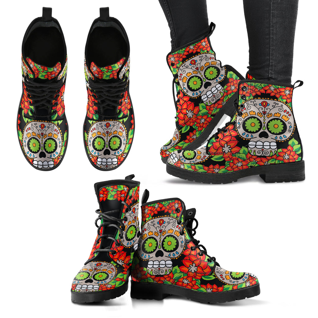 Sugar Skull Boots Women's Leather Boots