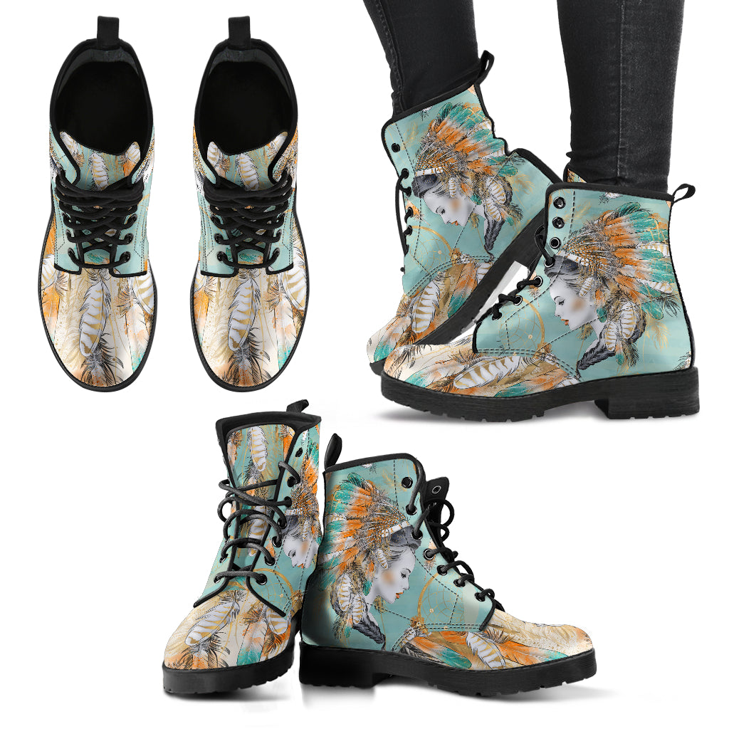 Native American Boots Women's Leather Boots