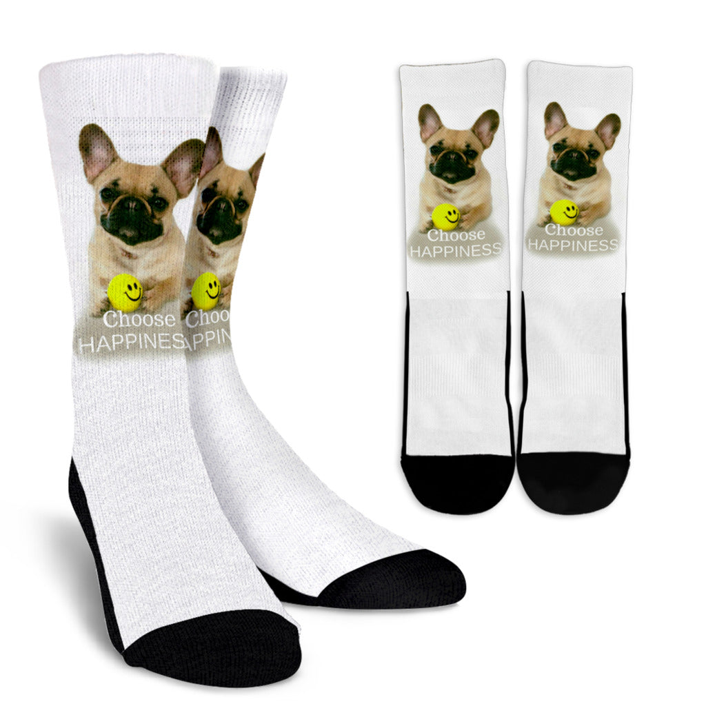 French Bulldog Socks Crew Socks