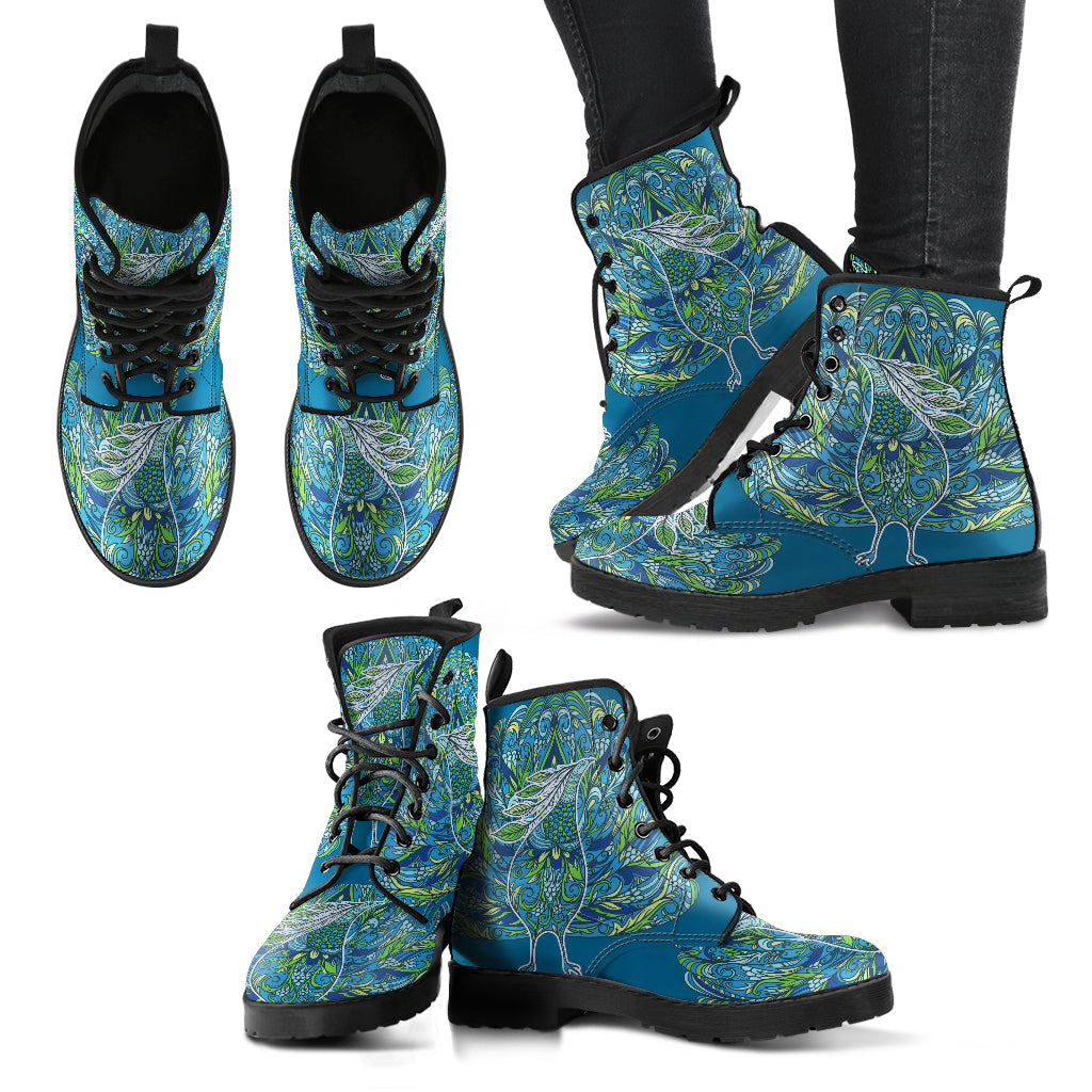 Peacock Boots Handcrafted Women's Leather Boots
