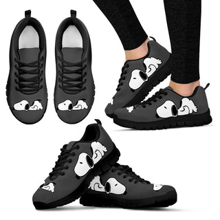 Snoopy Shoes Women's Sneakers for Womens Grey Color