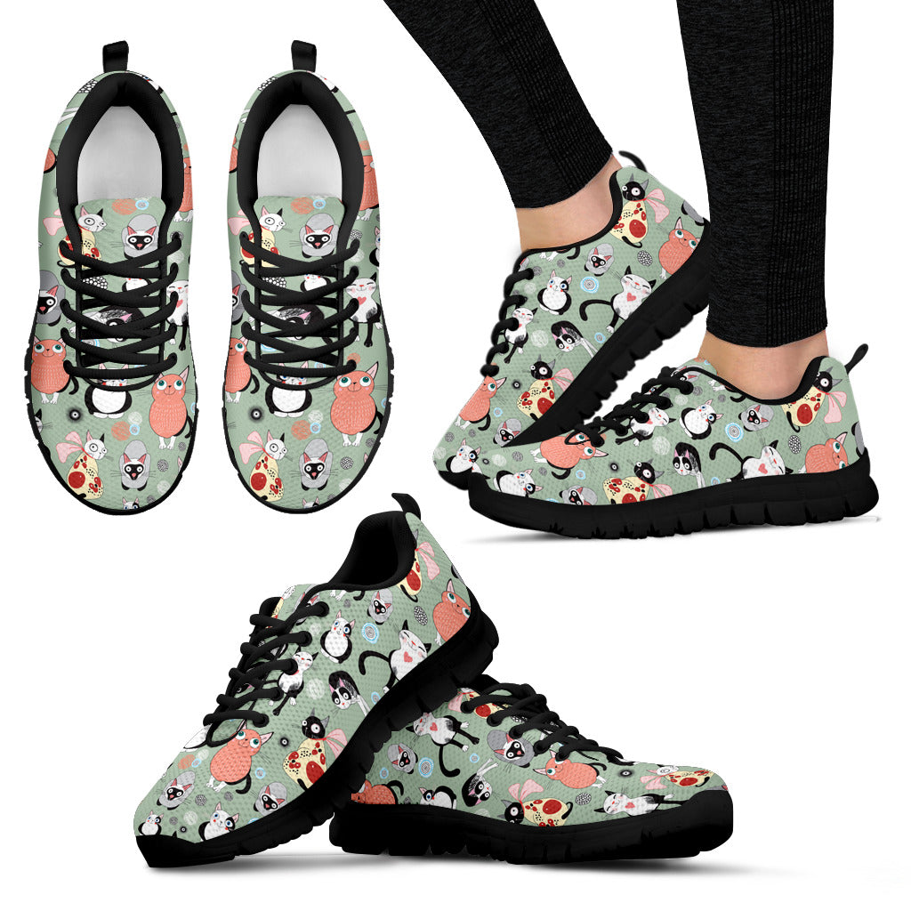 Coloruful Cats Shoes Women's Sneakers