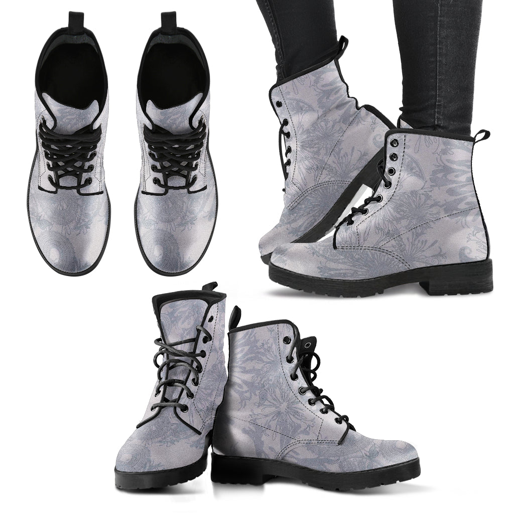 Grey Boots Gray Boots for Women Gray Booties Leather Boots