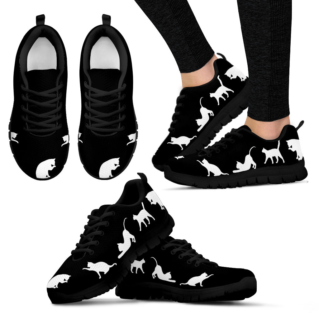 Black Cats Shoes Women's Sneakers