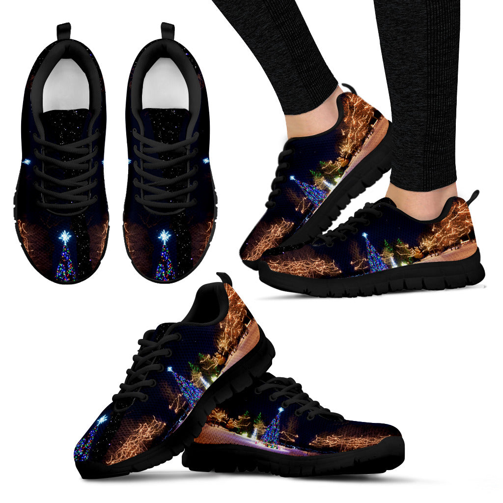 Black Starry Night Shoes Women's Sneakers