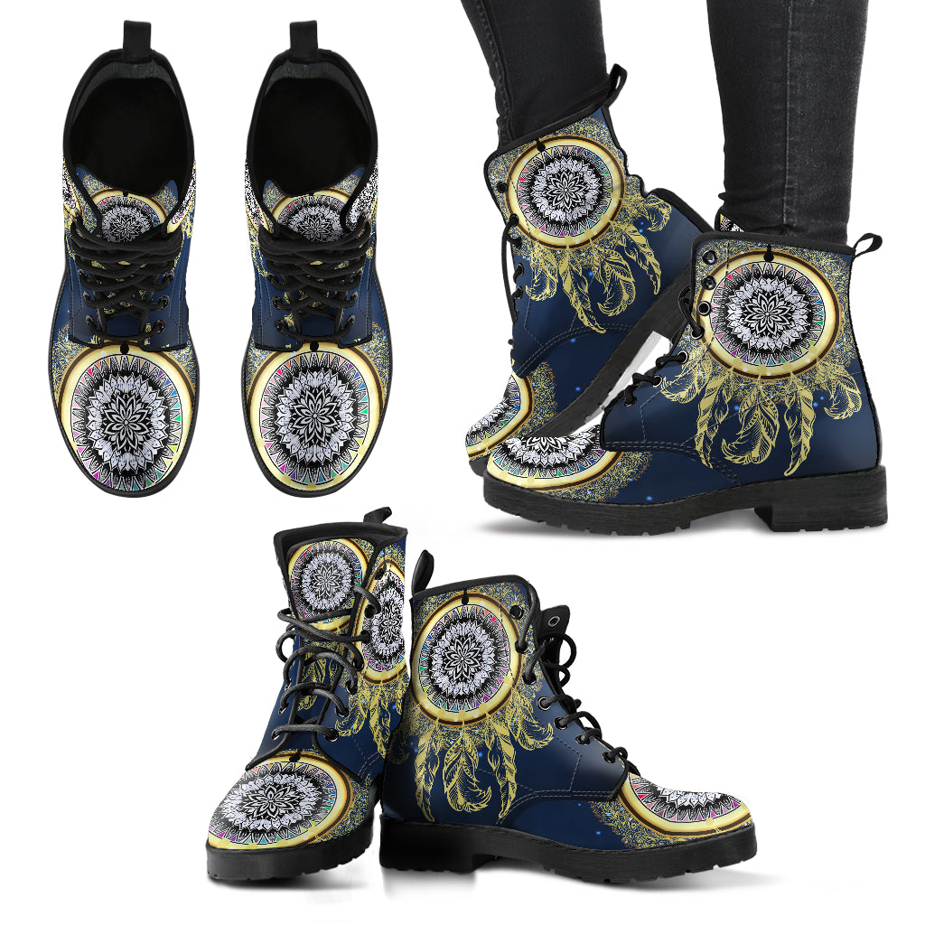Golden Dreamcatcher Women's Leather Boots