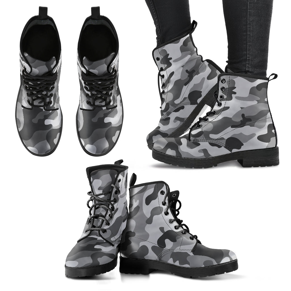 Grey Camouflage Boots Camo Boots Women