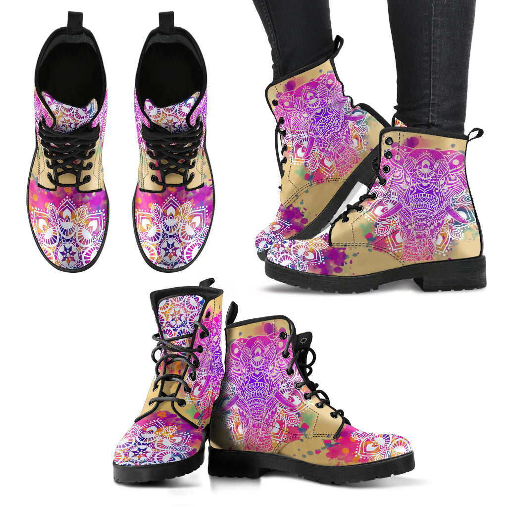 Spiritual Elephant Women's Leather Boots