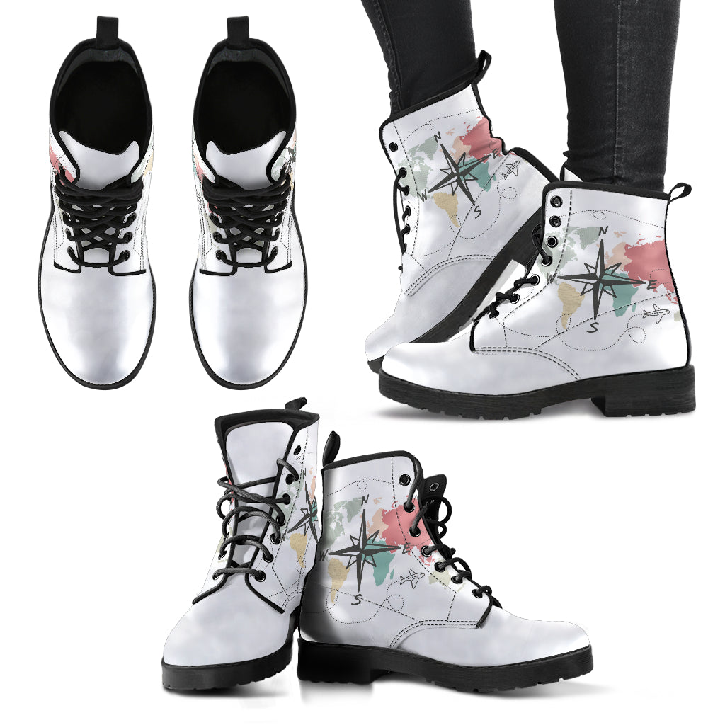 Map Boots Women's Leather Boots