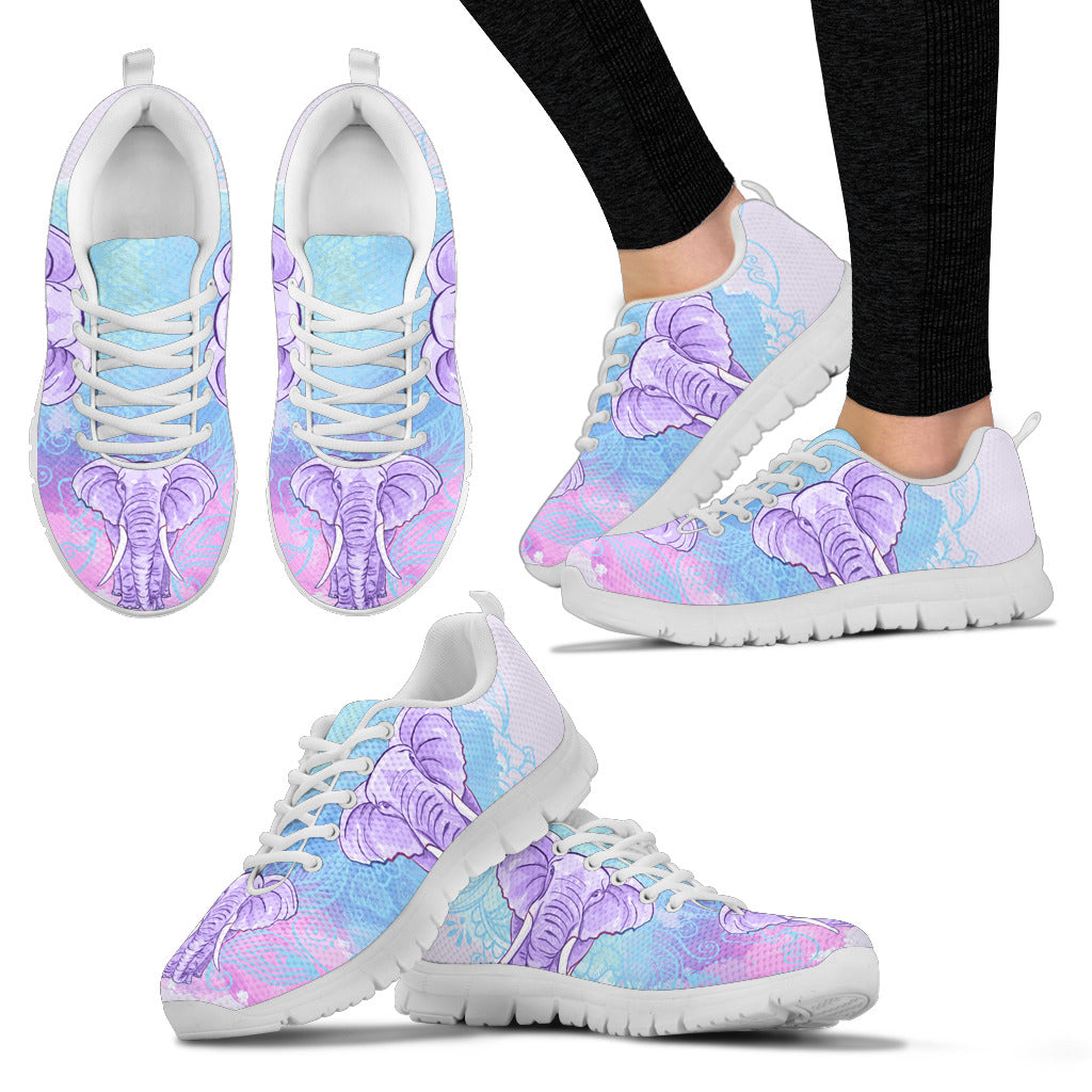 Purple Flora Elephant Women's Sneakers