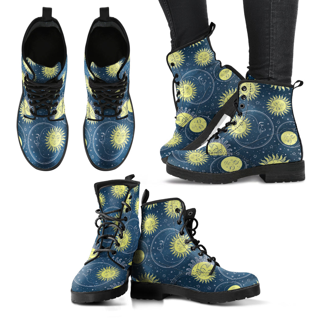 Sun and Moon Boots Women's Leather Boots