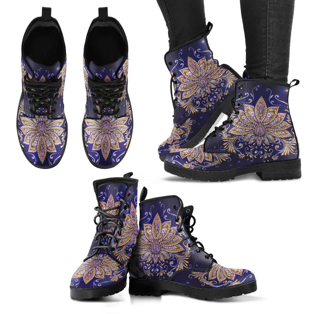 Elegant Lotus Boots Women's Leather Boots