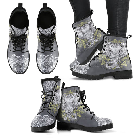 Elephant Boots Mandala Boots Women's Leather Boots