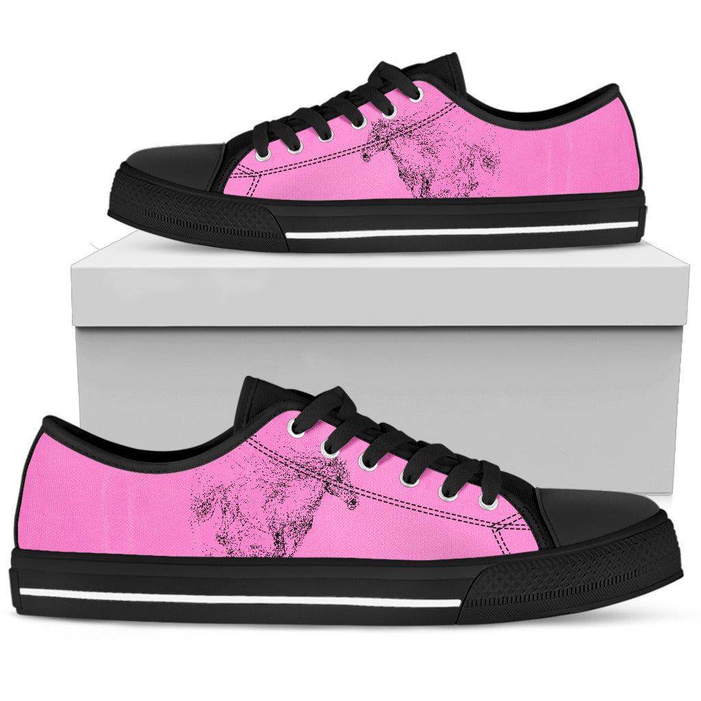 Pink Shoes Horse Shoes Women's Low Top