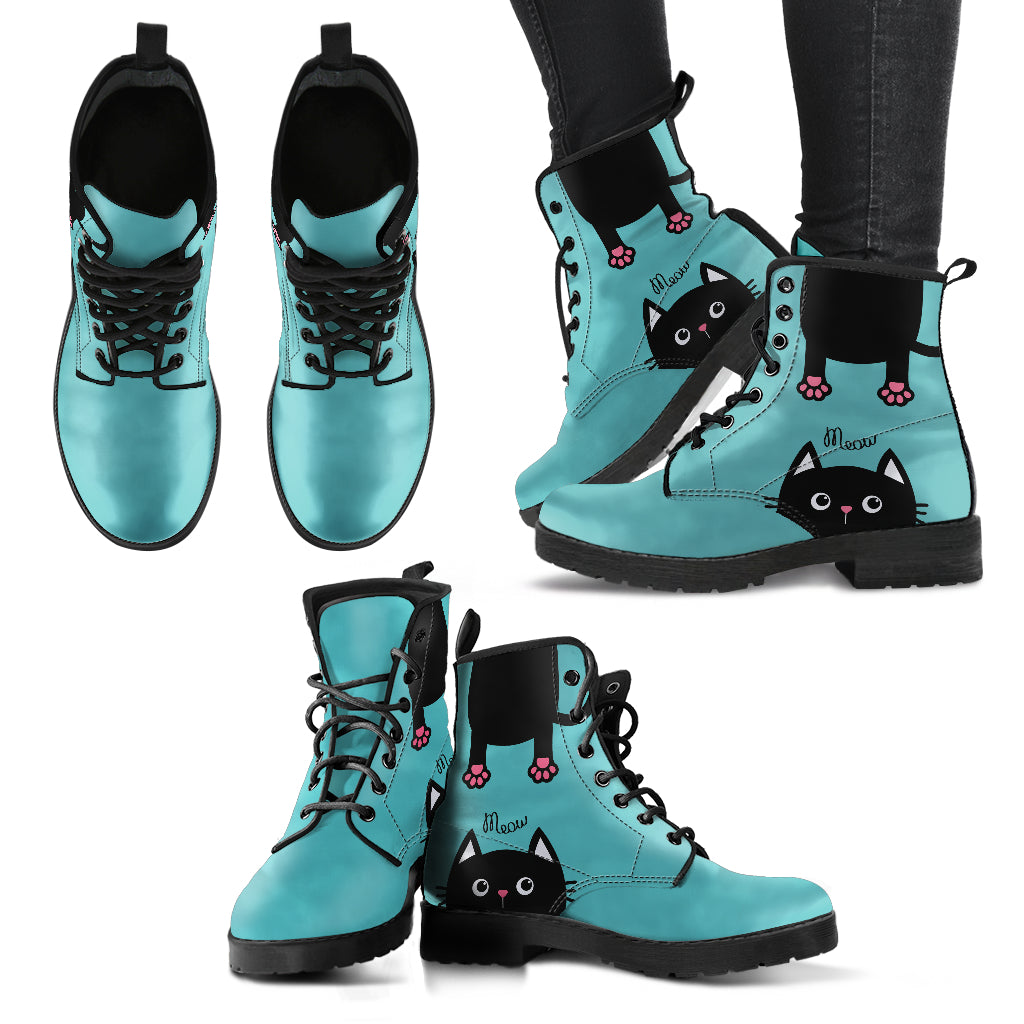 Green Cat Boots Women's Leather Boots