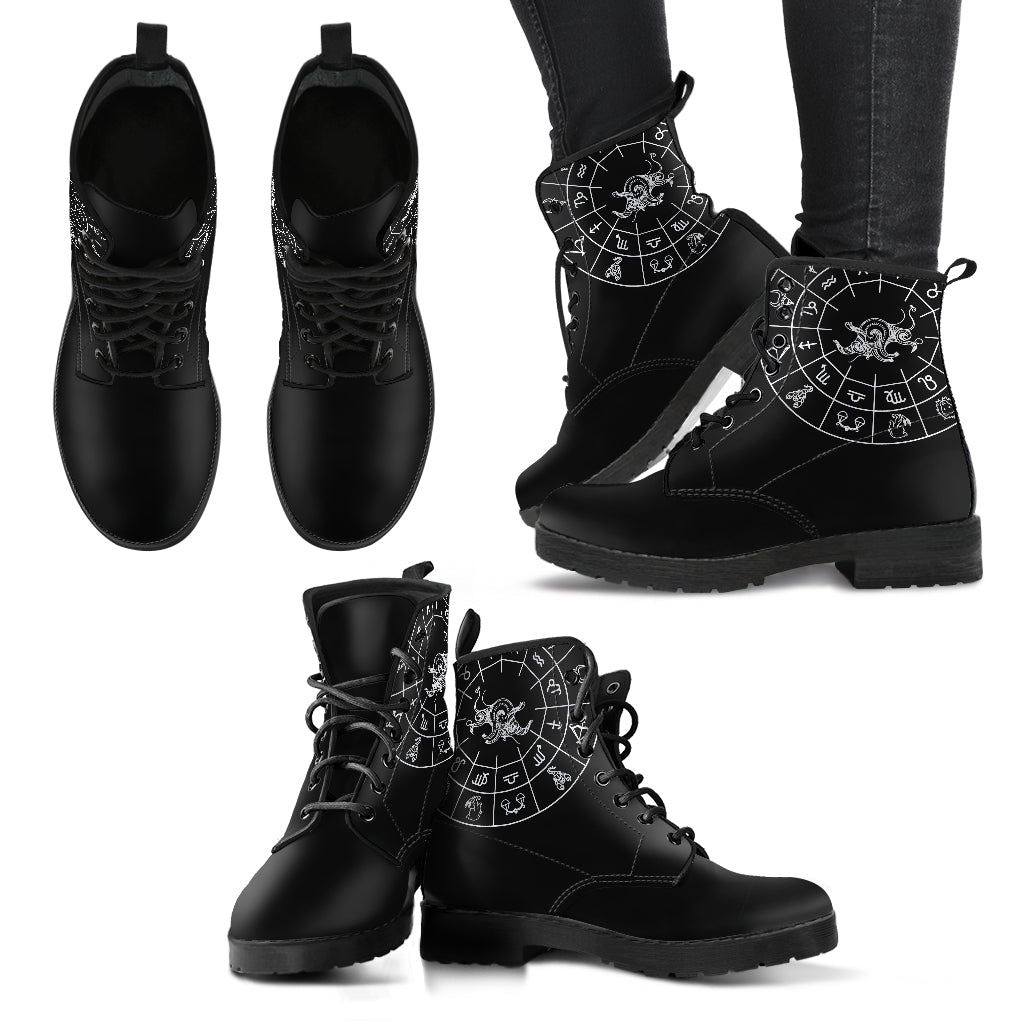 Taurus Black Zodiac Women's Leather Boots