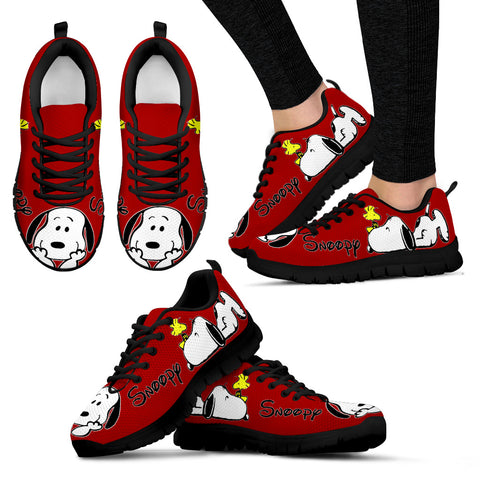 Red Snoopy Sneakers Snoopy Shoes For Women