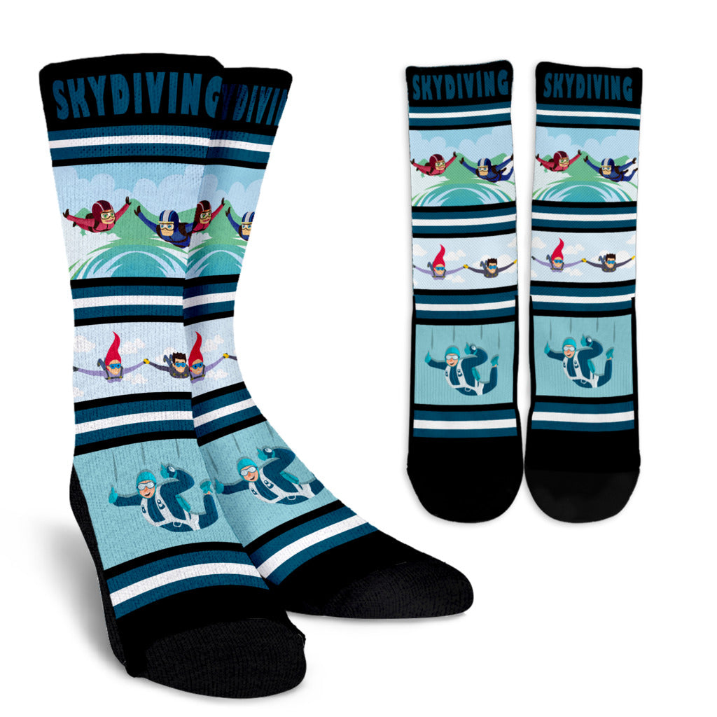 Skydiving Socks Crew Socks