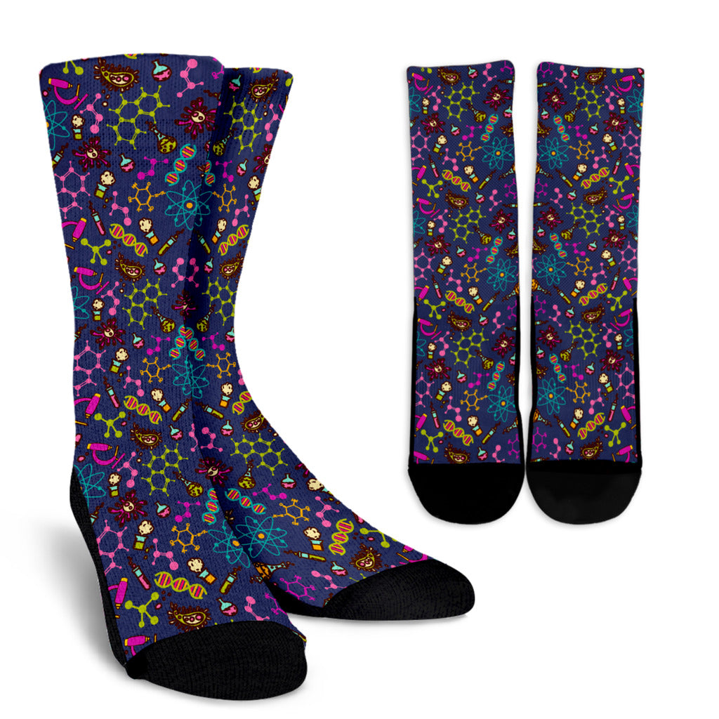 Biology Socks Chemistry Crew Socks