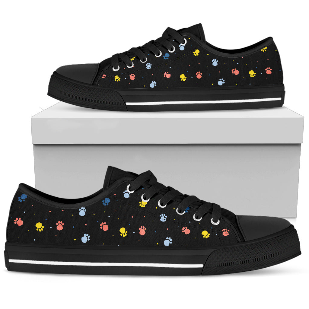 Paws Print Shoes Women's Low Top Shoe