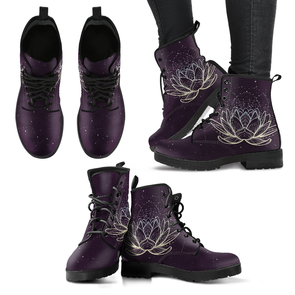 Lotus Boots Black Women's Leather Boots