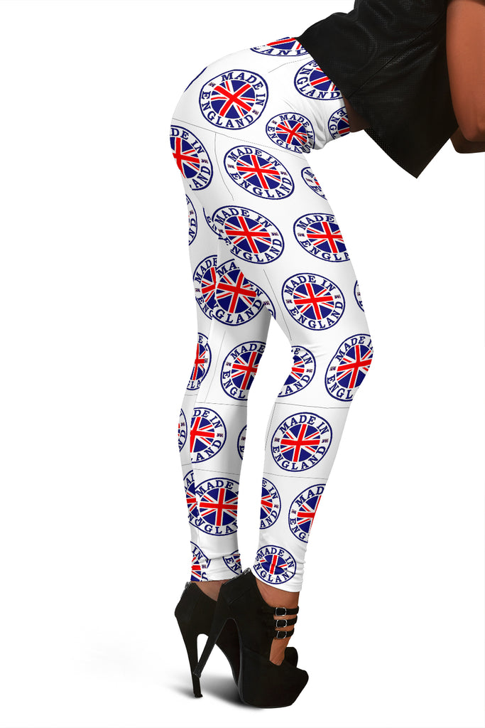 England Flag White Leggings