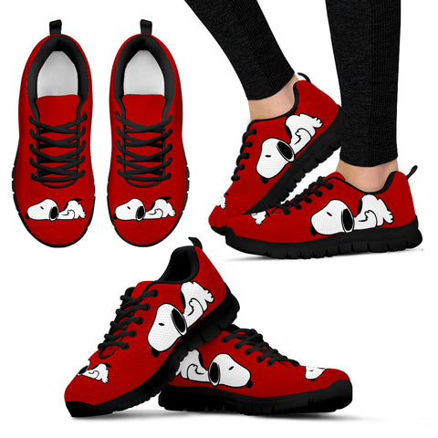 Snoopy Red Shoes Women's Sneakers for Womens