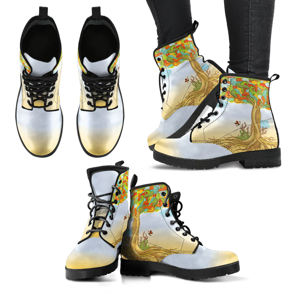 Tree of Life Boots Women's Leather Boots