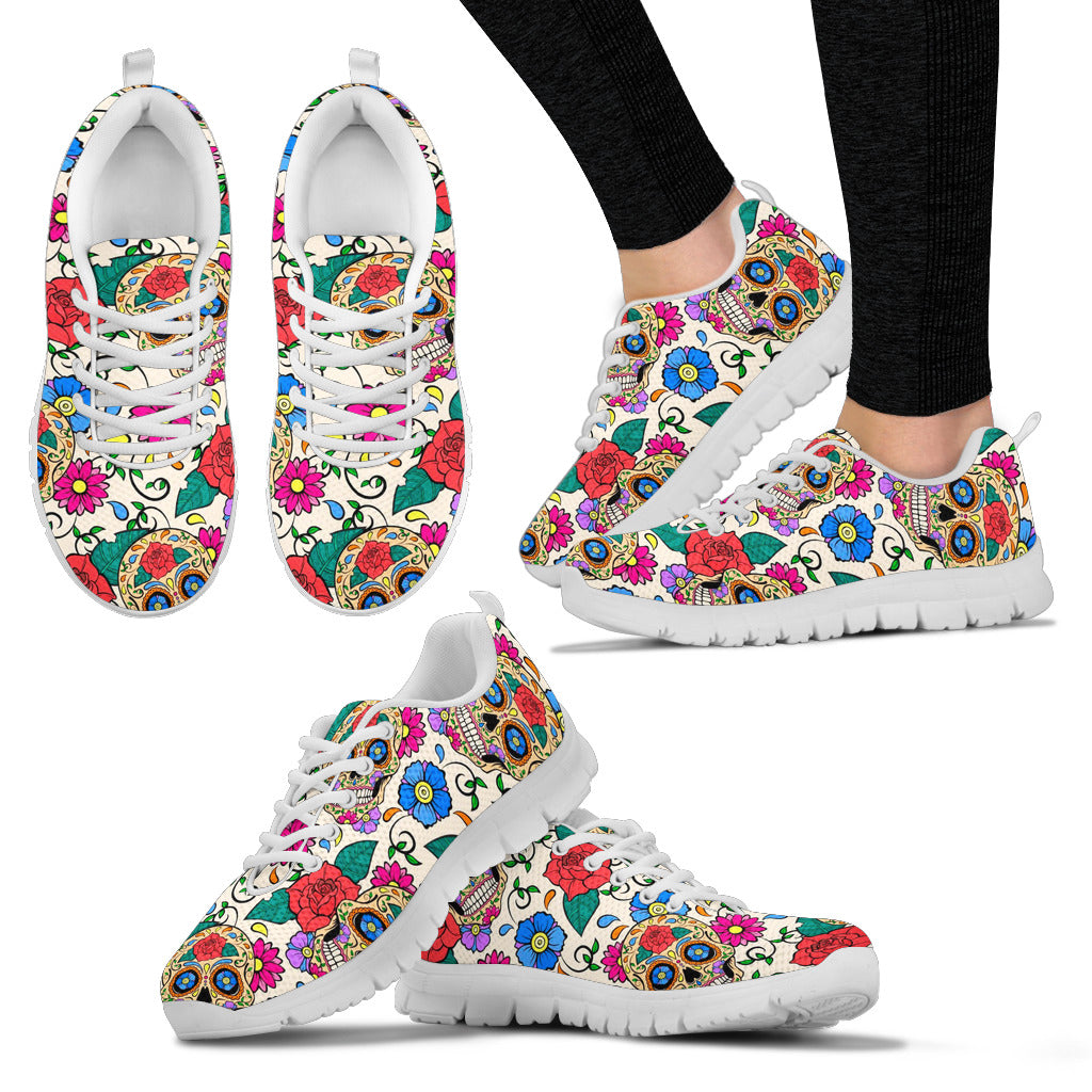 Day of The Dead Sugar Skull Women's Sneakers