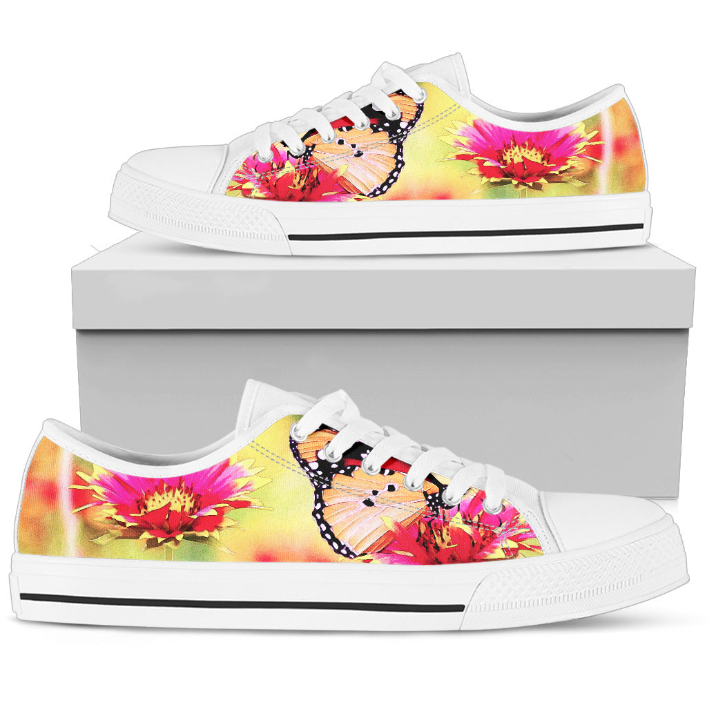 Women's Low Tops Butterfly Shoes (White Sole)