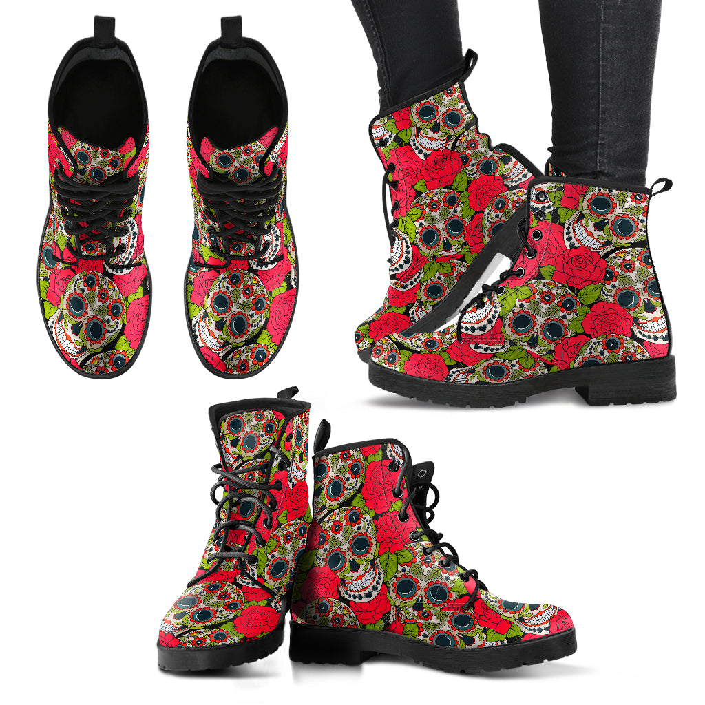 Day of The Dead Boots Sugar Skull Boots Casual Boots