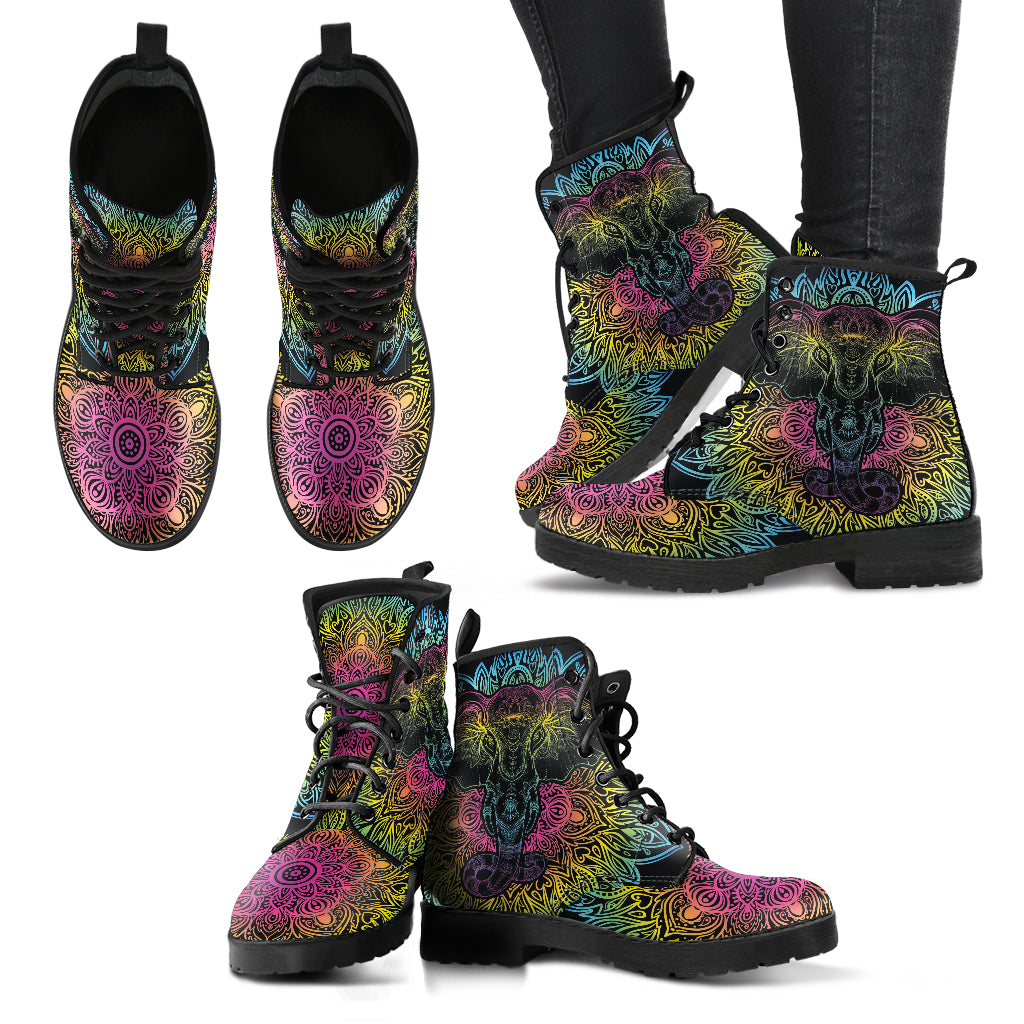 Elephant Boots Mandala Women's Leather Boots