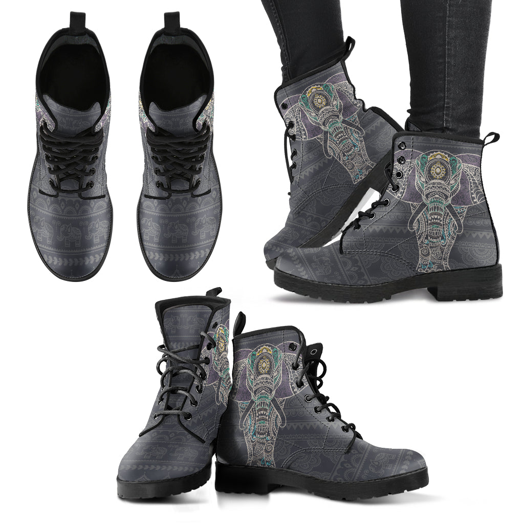 Elegant Elephant Boots Grey Women's Leather Boots