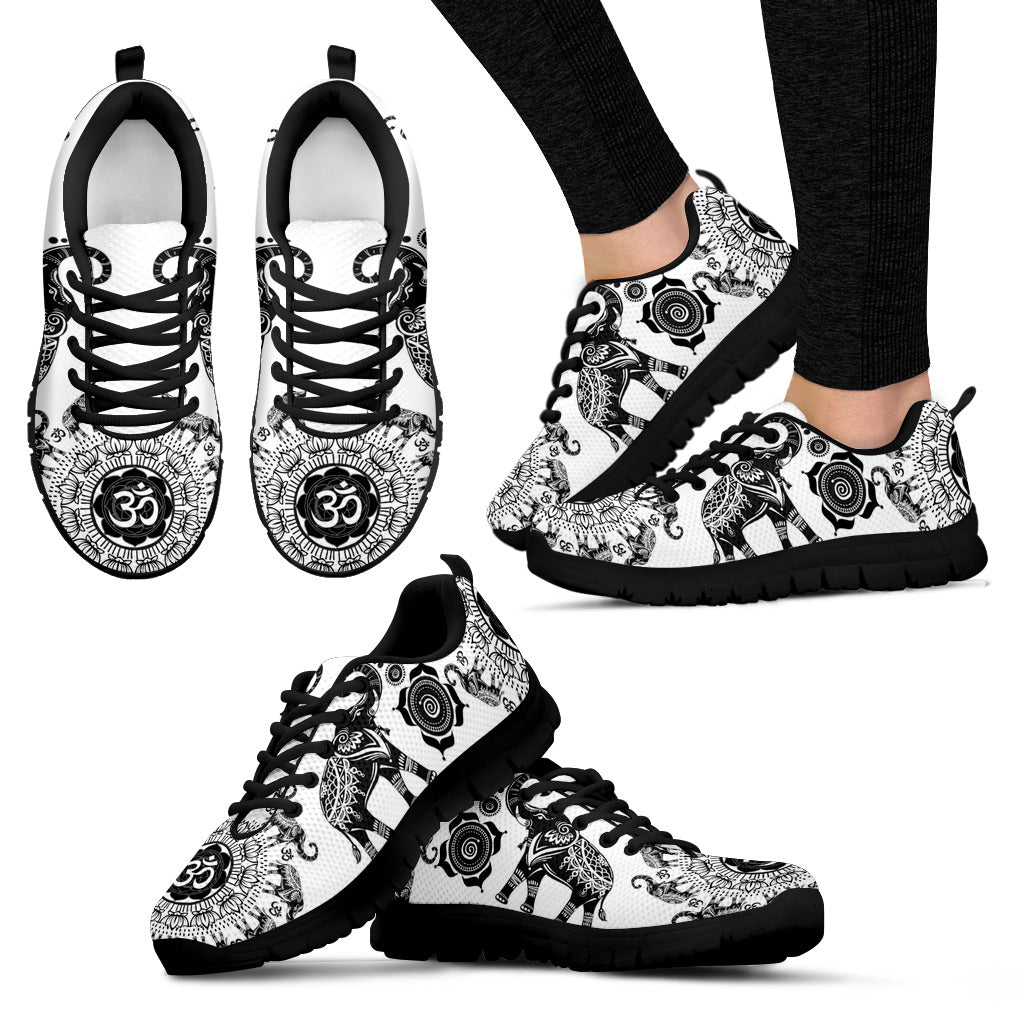 Elephant Shoes Elephant Black and White Women's Sneakers
