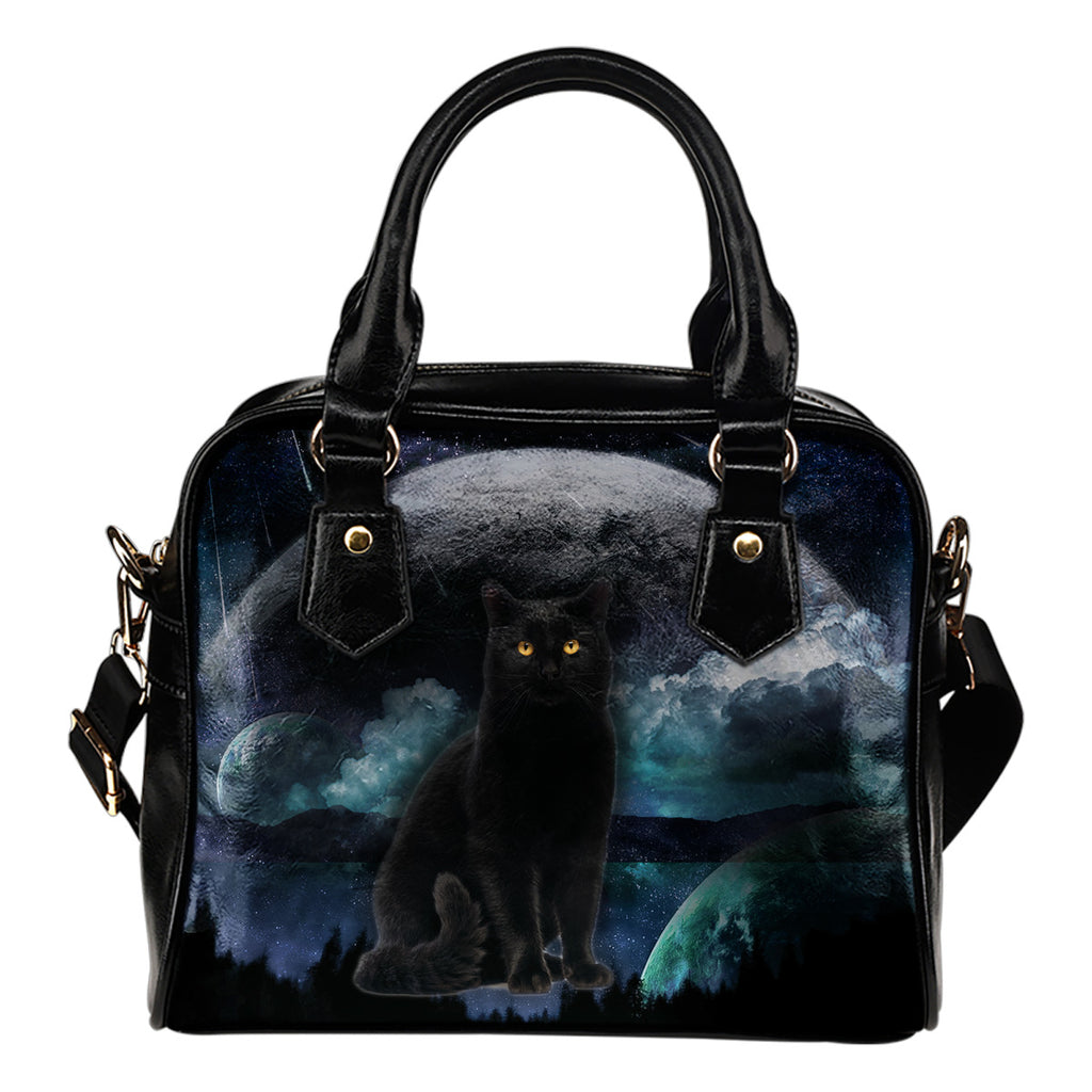 Cat Handbag Cat Planet Shoulder Handbag