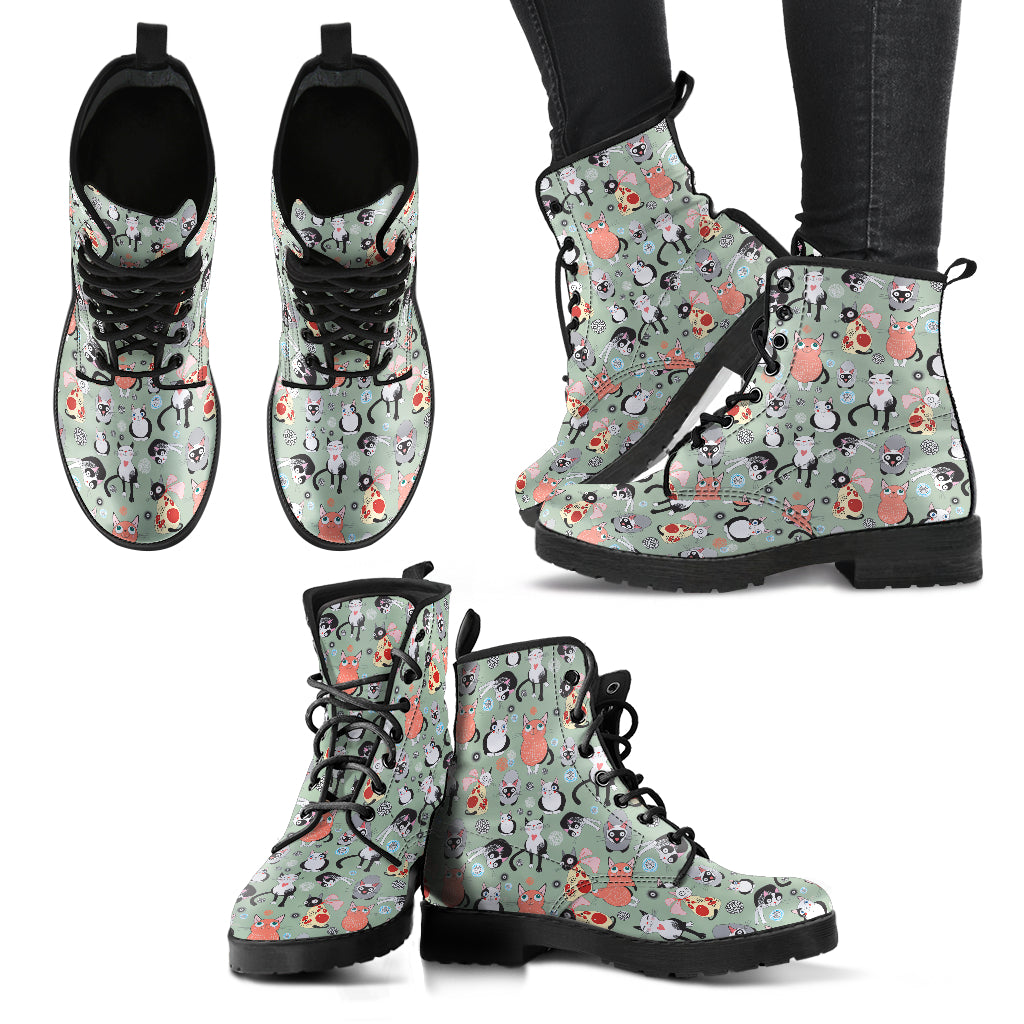 Snugly Cat Boots Women's Leather Boots