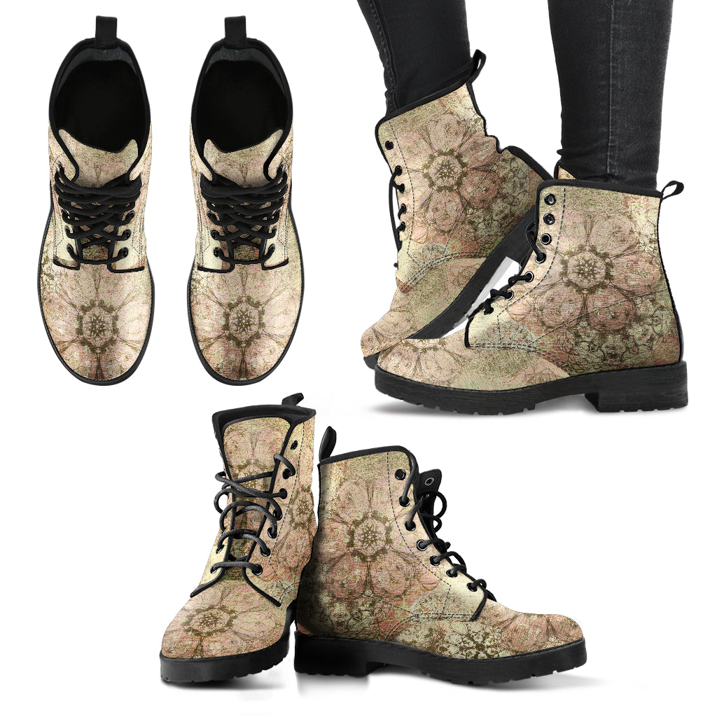 Old Flower Women's Leather Boots