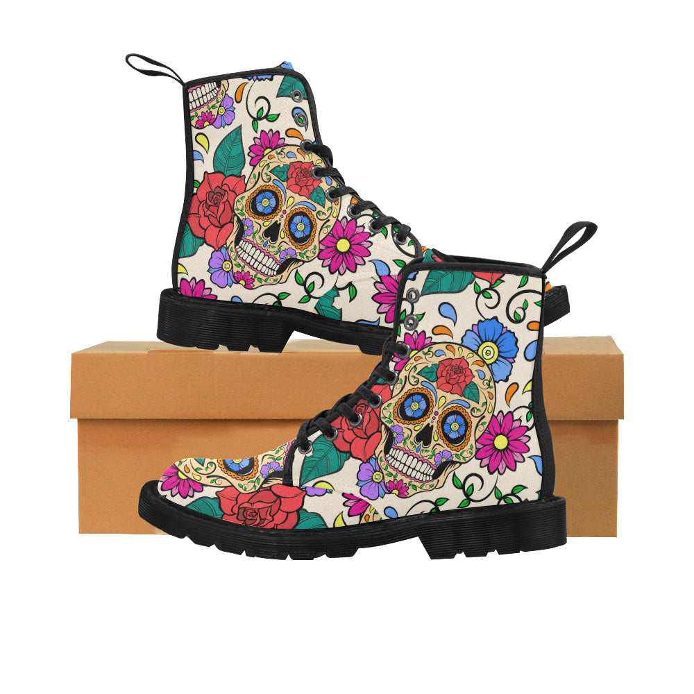 Day of The Dead Sugar Skull Casual Boots