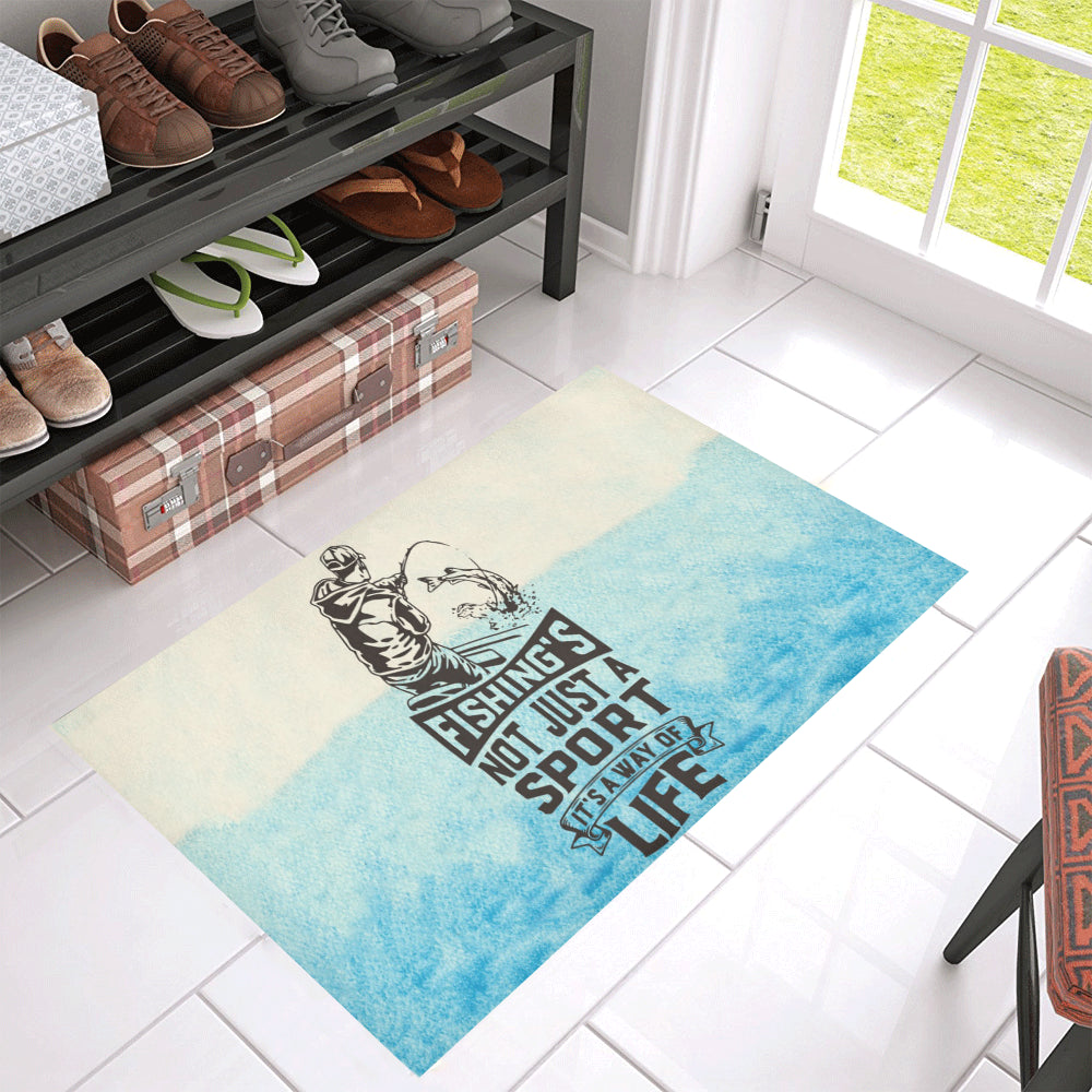 "Fishing Large Doormat 30"" x 18"""