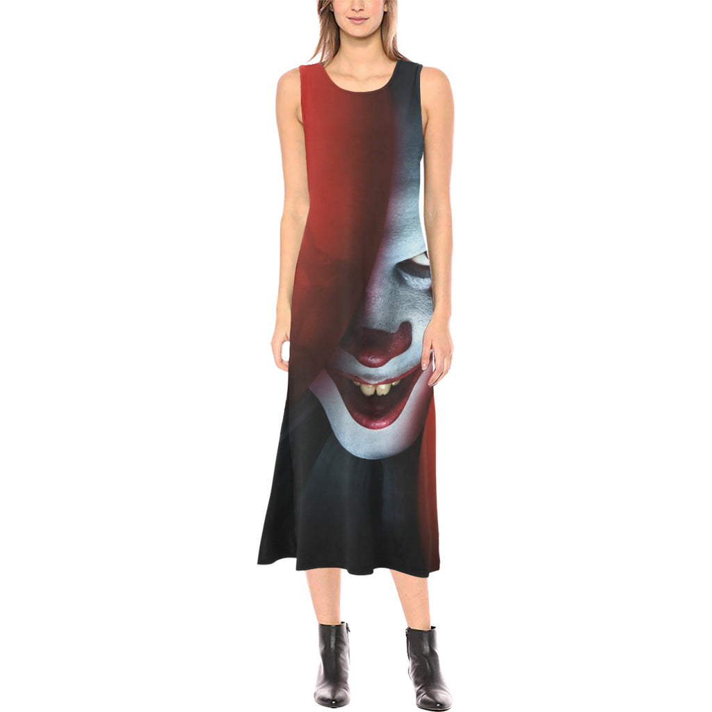 It Chapter Two Pennywise Sleeveless Open Fork Long Dress