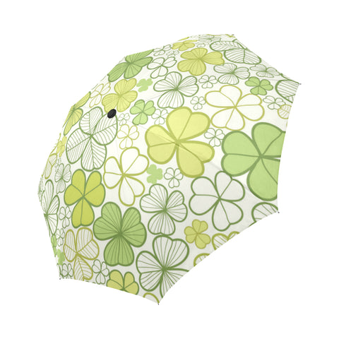 Green Clover Auto Foldable Umbrella