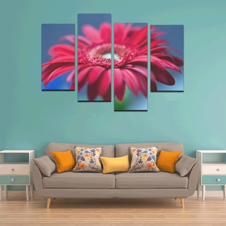 Gerbera Daisy Canvas Wall Art 4 Pieces Framed Wall Pictures