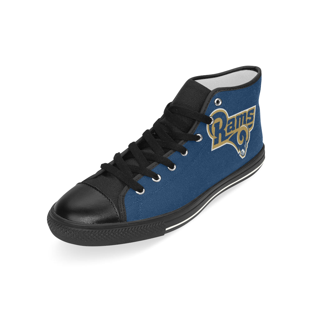 Los Angeles Rams High Top Canvas Shoes