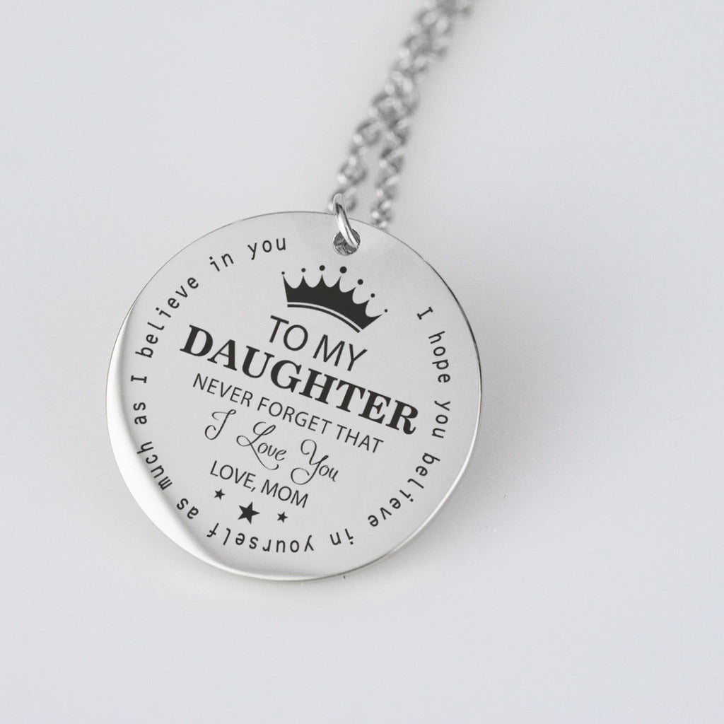 To My Daughter Necklace From Mom.