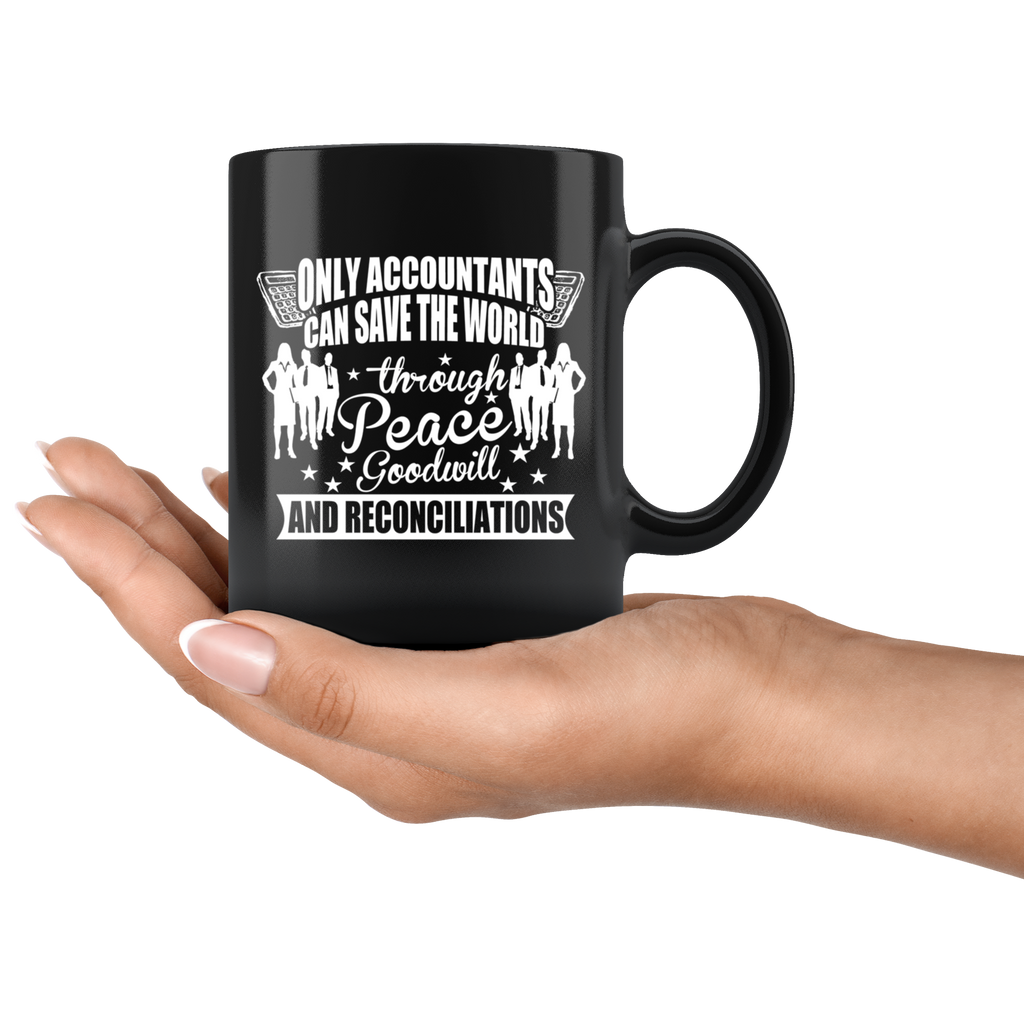 Accountant Coffee Mug Gifts For Accountants Black Mug