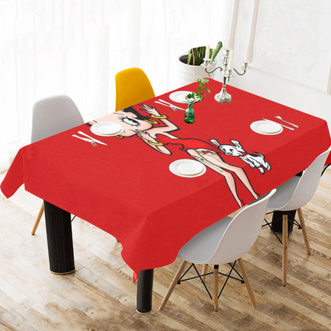 "Betty Boop Tablecloth 120"" x 60"""