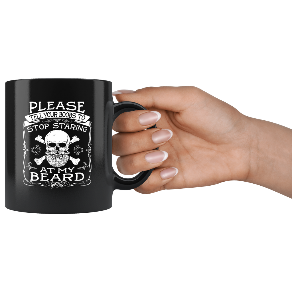 Funny Beard Black Ceramic Coffee Mug Quotes Cup Sayings ...
