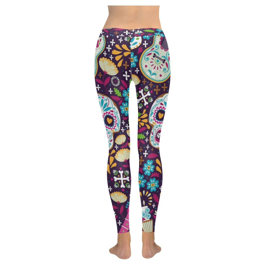 Day of the Dead Mexican Sugar Skull Leggings
