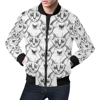 Abyssinian Cat Bomber Jacket for Men